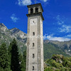 Belltower at the College of San Lorenzo, Chiavenna, Italy
