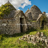 Group of abandoned trulli, Puglia