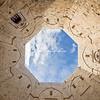 The courtyard of Castel del Monte, Puglia