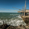 A trabuccho, an ancient system of fishing along the Adriatic coast, Puglia