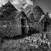 Trulli in Black and white, Puglia