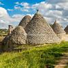A group of abandoned trulli near Cisternino, Puglia