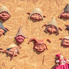 Masks, Alberobello, Puglia, Italy