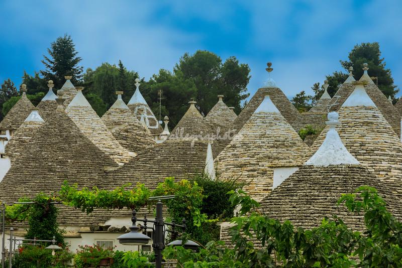 Alberobello's Trulli Roofs, Puglia