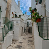 A typical alleyway in Cisternino, Puglia, Italy