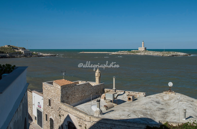 Looking towards the lighthouse, Vieste, Puglia