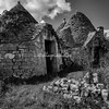 Trulli in Black and white, Puglia