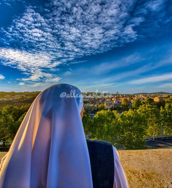 Looking towards the Vatican