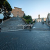 Looking up the steps to the Ara Coeli and the Cordonata to the Campidoglio