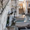 Statue of the Nile River God at base of Palazzo Senatorio
