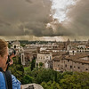 Looking over Rome from the Cafe on the top of the Capitoline Museum