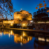 Castel Sant'Angelo and the Tiber River at dusk