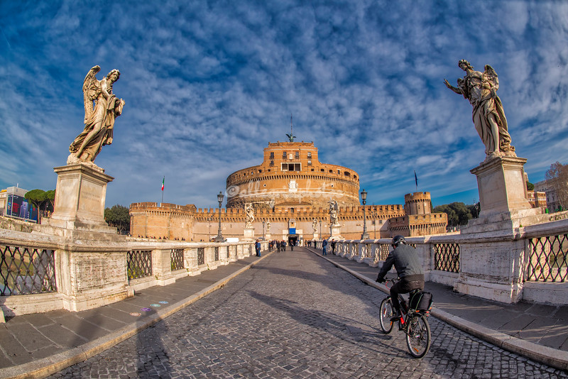 Castel Sant'Angelo, Rome from Ponte Sant'Angelo