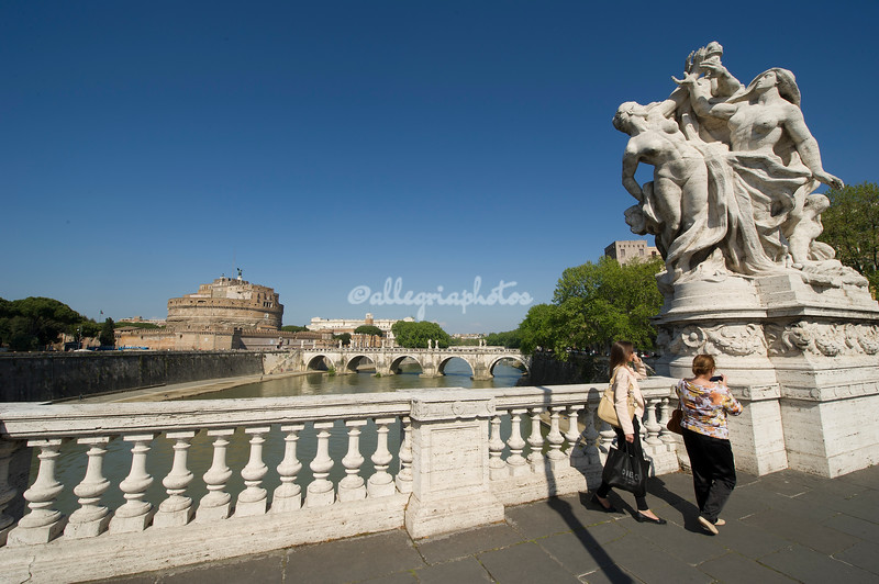 Looking towards Castel Sant'Angelo