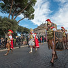 """Roman Soldiers"" in the Befana Parade, Castel Sant'Angelo, Rome"
