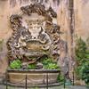 Fountain in private courtyard near Fountain of Trevi