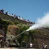The cannon firing at noon on the Gianicolo