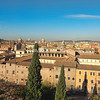 A view over Rome from the Cafe on the Palazzo Caffarelli