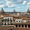 Rome seen from the roof terrace of the Capitoline Museum