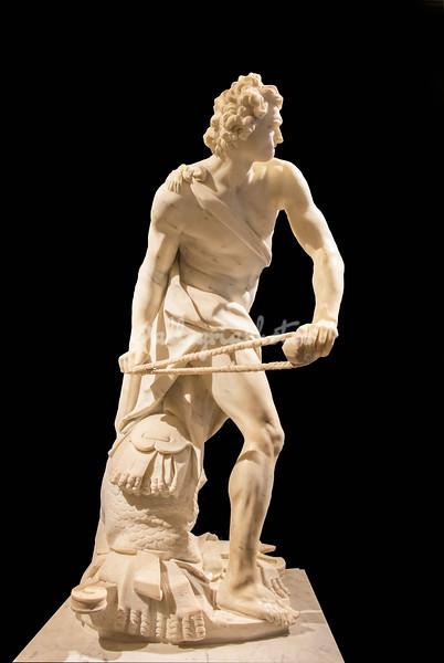 Bernini's David (facing Goliath), Bernini Exhibition, Galleria Borghese, Rome