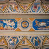 A painted ceiling  by Raphael, at the Palazzo Farnesina, Rome