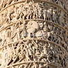 Detail of the reliefs on the Column, Piazza Colonna