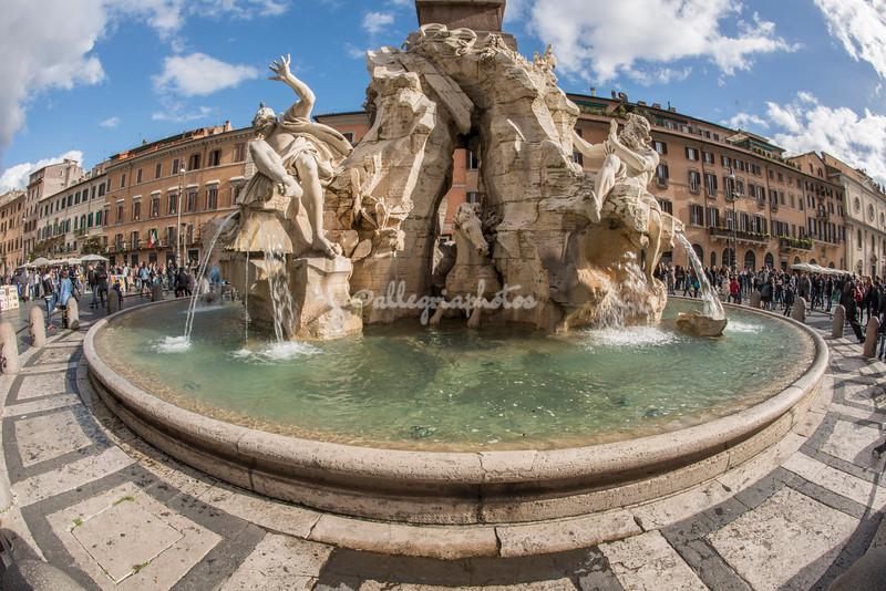 Fontana dei Quattro Fiumi by Bernini on Piazza Navona