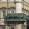 The covered balcony on Palazzo Bonaparte, residence of Napoleon's mother, Letizia, who would sit and watch what was going on outside in the Piazza Venezia and Via del Corso