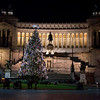 Christmas Tree and Victor Emmanuel monument, Piazza Venezia