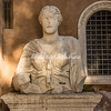 "Bust of Madama Lucrezia, one of Rome's ""Talking Statues"""