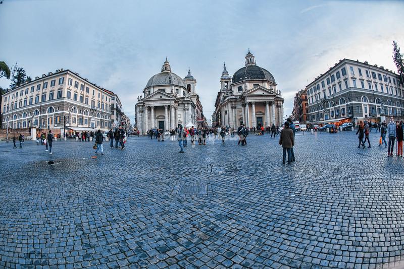 Two churches on Piazza del Popolo