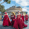 Medieval Costumes in the Befana parade, Castel Sant'Angelo, Rome