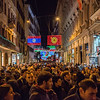 Crowds on Via Del Corso at Christmas time