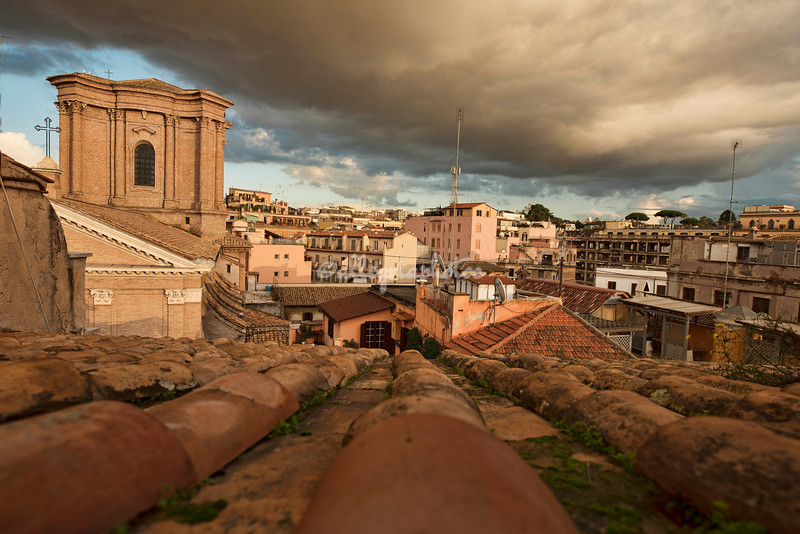 Looking over the rooftops of Rome