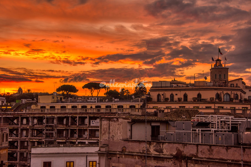 Sunrise over the Rooftops of Rome
