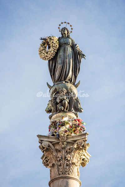 Statue of the Immacolata on Dec 8
