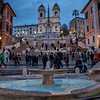 The Spanish Steps at dusk, Rome