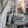 Statue of the Nile River God at base of Palazzo Senatorio