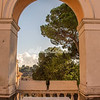 Arch way looking out over Aventino, Campidoglio