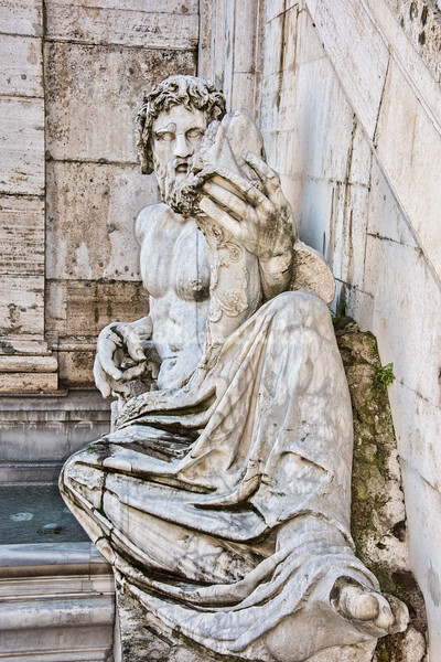 Statue of River God Tiber at base of Palazzo Senatorio
