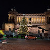 Night time view of Christmas Tree on Piazza Venezia
