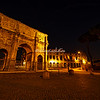 The Arch of Constantine and Colosseum at night