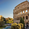 A Christmas Tree in front of the Colosseum