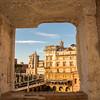 Through a window at Trajan's Market