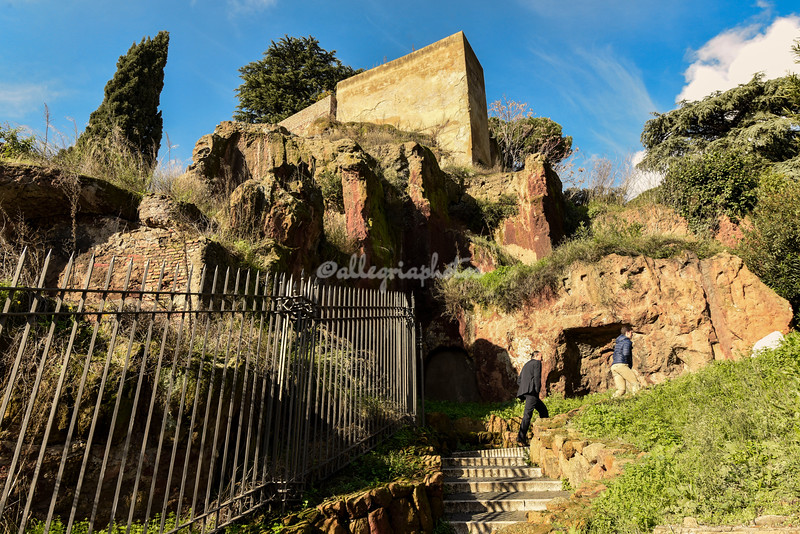 The Tarpeian Rock from where traitors were flung to their death in Roman times
