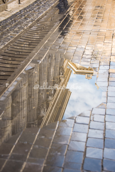 Reflections of the Piazza di Pietra