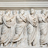 Relief of Caesar Augustus and others on the Ara Pacis Augustae