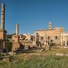 The Roman Forum looking towards the Tabularium and Arch of Septimius Severus