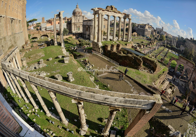 Wide angle of the Roman Forum from Campidoglio
