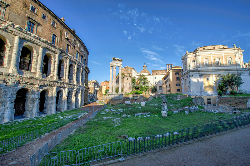 The Theater of Marcellus and Temple of Apollo, Rome